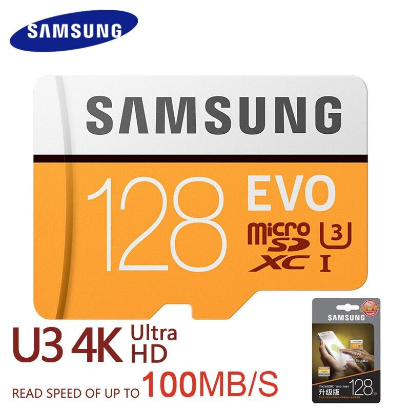SAMSUNG Memory Card EVO 128GB 64GB 32GB SDHC SDXC TF100M EVO MicroSD 100M/s Class 10 Micro SD C10 UHS MB-MP32GO TF Trans Flash