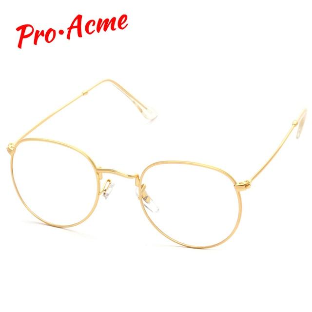 ed51c28c19dbe Pro Auge Da Moda Rodada óculos de Armação de Metal Para As Mulheres Homens  Do Vintage