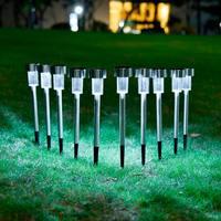 Dropship 10Pcs Waterproof LED Garden Lawn Lamp Solar LED Spike Spot Light Landscape Garden Yard Path Lawn Outdooors Solar Lamp