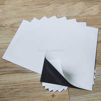 3pcs A4 Size Self Adhesive Flexible Magnetic Sheet For Spellbinder Dies Car/Exhibition/Ad Rubber Magnet board thickness 1mm