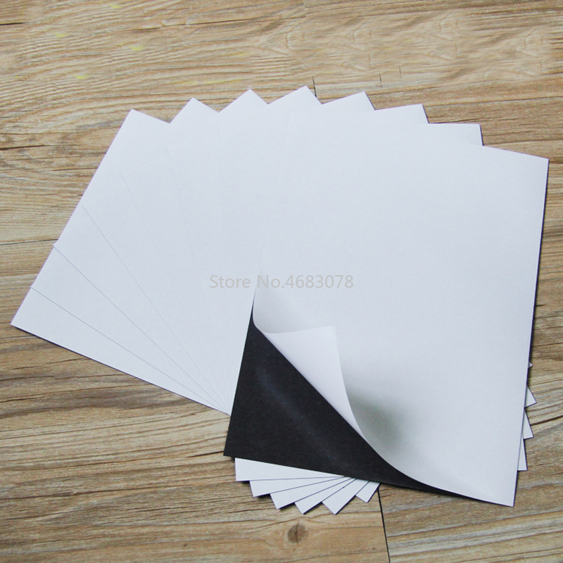 5pcs Thickness 1mm Self Adhesive Flexible Magnetic Sheet For Spellbinder Dies Car/Exhibition/Ad Rubber Magnet Board 290x210mm