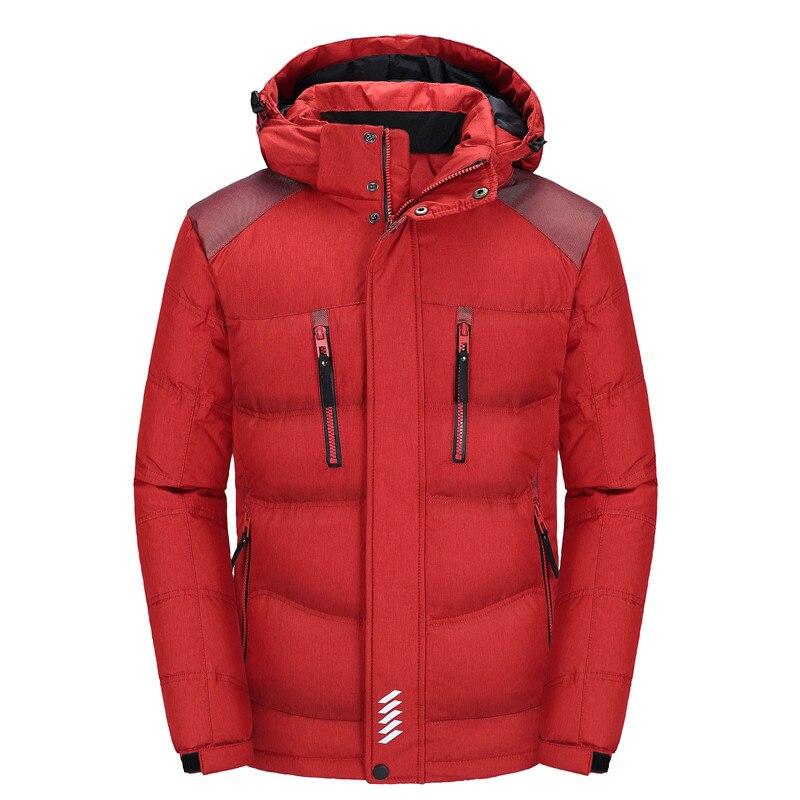 Down   parka men big size M-4XL mens Winter jacket brand duck   down   jacket 90% white duck   down   jacket Winter Hooded   Coat