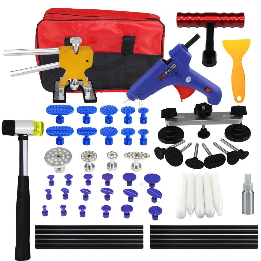 PDR Kit Tools Car Dent Repair Tool Dent Puller Hot Melt Glue Gun Pulling Bridge Rubber