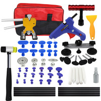 PDR Kit Tools Car Dent Repair Tool Dent Puller Hot Melt Glue Gun Pulling Bridge Rubber Hammer Paintless Dent Removal