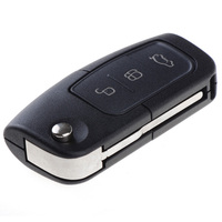 3 Button Transponder Remote Flip Key Replacement For Ford Focus Mondeo C S Max Fiesta Car