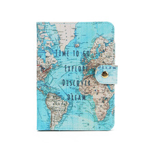 Flamingo Map Passport Covers Travel Accessories Creative PU Leather ID Bank Card Bag Men Women Passport Business Holder(China)