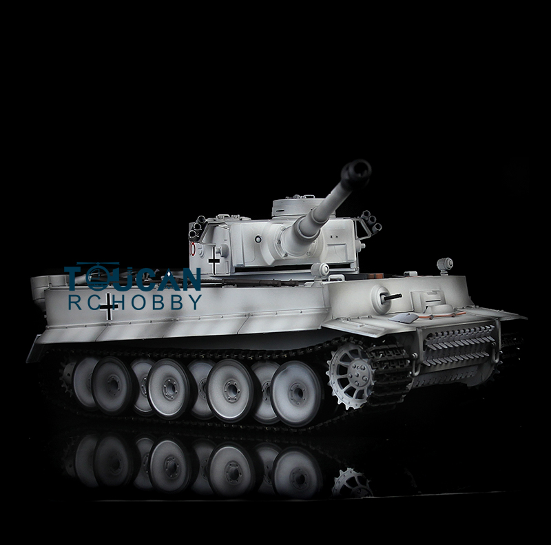 HengLong 1/16 Upgraded Metal Version Winter Snow German Tiger I RTR RC Tank 3818 Model henglong 1 16 german tiger i rtr rc tank metal track sprockets idler wheels 3818