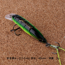 New arrival fishing lure minnow lure 45mm/3g diving 0.2-0.4m insect lure fish bait cheap fishing lurs free shipping
