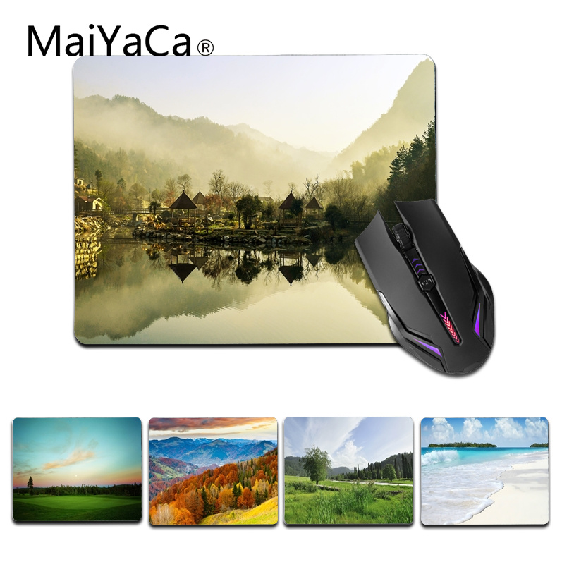 MaiYaCa New Printed Grassland Surf Computer Gaming Mouse mats Size for 180x220x2mm and 250x290x2mm Small Mousemat