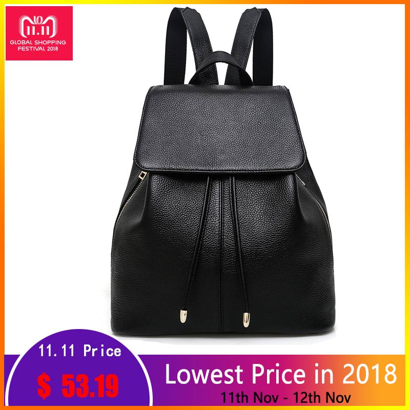 Fashion Designer Cow Genuine Leather Women Backpacks Drawstring School Bags For Teenagers Girls Female Travel BackPack Rucksack forudesigns fashion women drawstring bags william morris print mini string rucksacks for female reusable storage backpacks bolsa