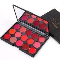 Profession Waterproof Matte Lip Palette Color Cosmetic Long Lasting Pigment Hot Miss Rose Brand 15 Color