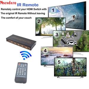 Image 2 - 5 Port akıllı CEC HDMI zamanlama anahtarı 4K 60Hz 18 Gbps 5x1 HDR HDMI adaptörü Switcher IR uzaktan için Dolby DTS HD LPCM HDTV PS4