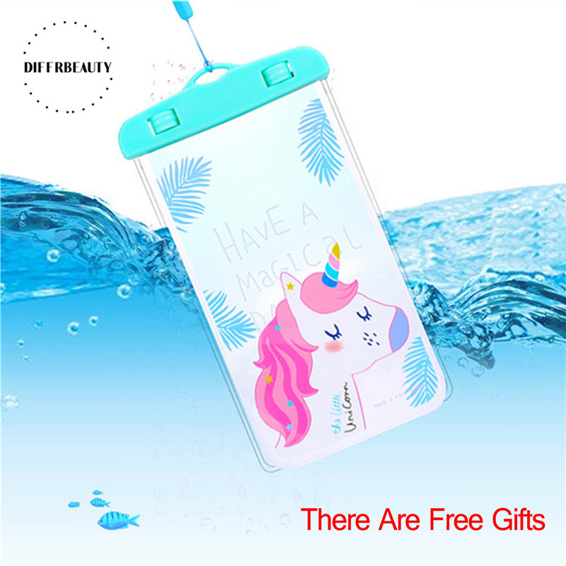 New Flamingo Cactus Unicorn Waterproof Pouch DIFFRBEAUTY Phone Case For iPhone Samsung Coin Purse Card Holder Storage Wallet Bag ...