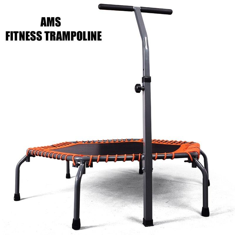55 Cal krotnie ćwiczeń domowych trampolina fitness z regulowanym poręczy