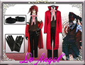 Anime Black Butler 2 Grell Sutcliff Kuroshitsuji Red Death Cosplay Halloween Party Costume Custom Size
