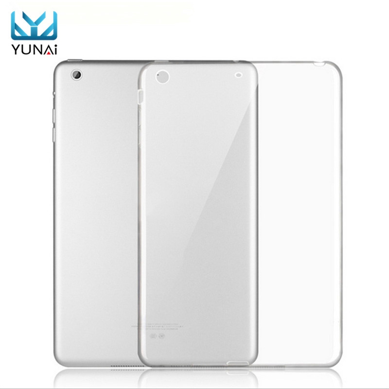 YUNAI For Apple For iPad mini 1 2 3 TPU Soft Case Cover Clear Transparent Silicon Ultra Thin Slim Shell for iPad mini 1 2 3 case for ipad air 2 pocaton for tablet apple ipad air 2 case slim crystal clear tpu silicone protective back cover soft shell