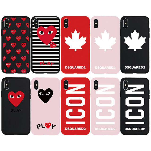 4625528efe6 Brand NEW DS2 Dsquared ICON Maple Leaf CDG Soft Case for iPhone 8Plus 8  7Plus 7 6s 6 Plus X Xs XR Xs Max SE 5s 5 SE Phone Cover