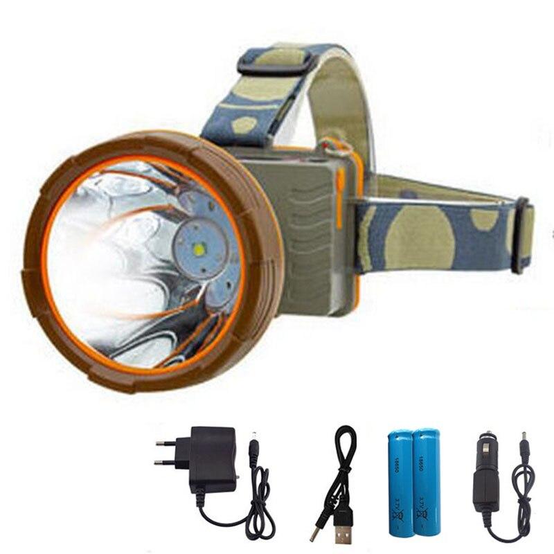 Étanche T6 Led Phare super lumineux Phare Tête de La Torche Lampe lumière longue portée frontale lampe 18650 batterie Pour La pêche