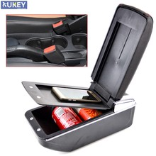 Center Console Storage Box Leather Dual Layer 2013-2017 Armrest Arm Rest For Chevrolet Trax Tracker Holden Trax 2014 2015 2016(China)