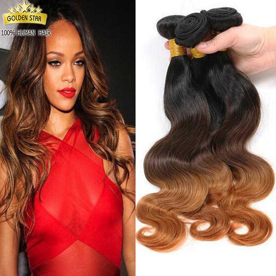 8a Ombre Body Wave Brazilian Hair Weave 3 Bundles Rihanna Ombre