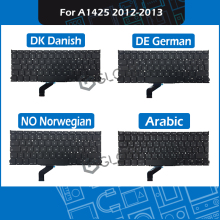 New for Macbook Pro Retina 13″ A1425 Late 2012 Early 2013 DE German DK Danish NO Norwegian Arabic Keyboard Replacement