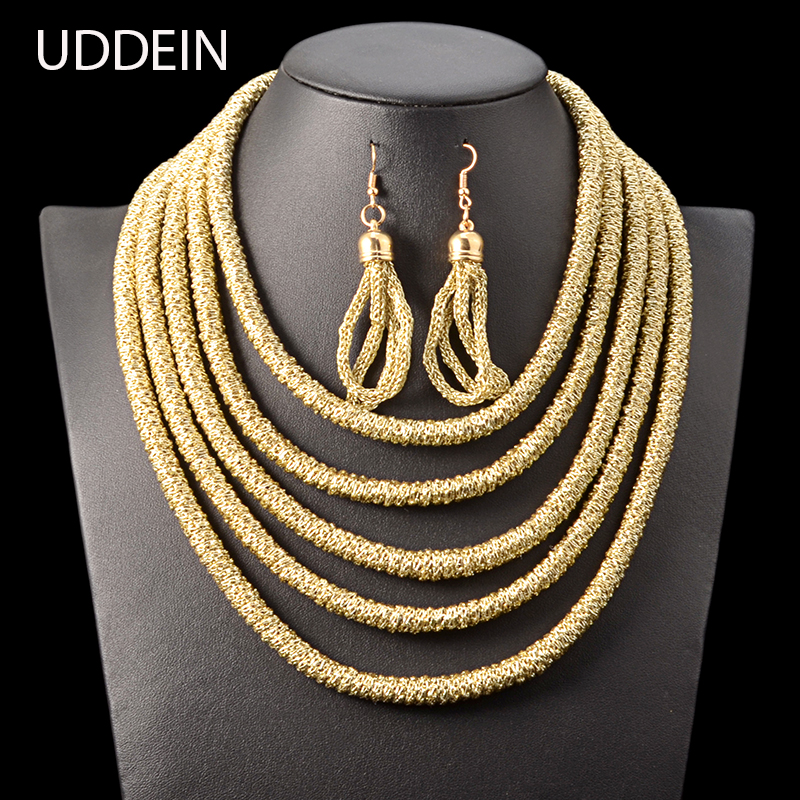 UDDEIN Multi layer Vintage Maxi African Beads Jewelry Sets