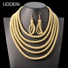 UDDEIN Multi layer Necklace Vintage Maxi Magnetic Clasps Nigerian Wedding Statement Choker Necklace African Beads Jewelry Sets