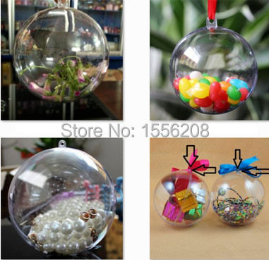 Online shop pack of 12creative round clear plastic ball ornaments ball usage for referenceyou can diy by yourself solutioingenieria Choice Image