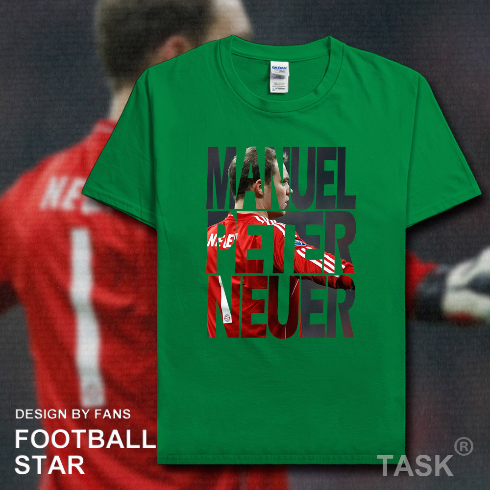 outlet store 3e6d8 7570e US $5.99 |Manuel Neuer t shirt 2018 jersey Germany footballer star tshirt  100% cotton fitness The fans t shirts clothes casual summer tees-in  T-Shirts ...