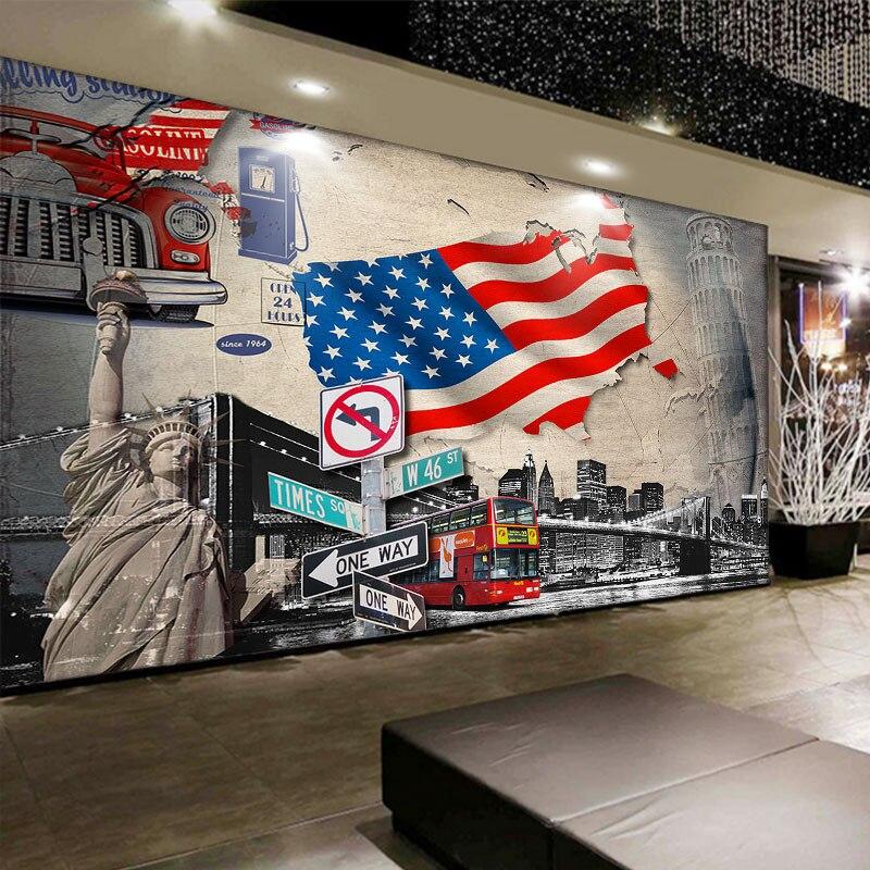 Car Stereo Wallpaper Beibehang 3d Large Custom Car Continental Building