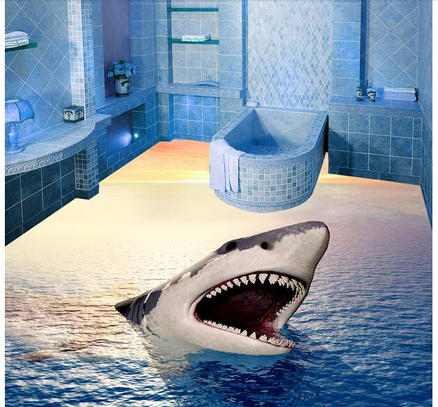 preis auf 3d floor painting sharks vergleichen online shopping buy low price 3d floor. Black Bedroom Furniture Sets. Home Design Ideas