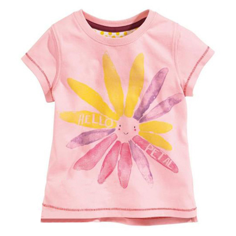 kidst shirt 2016 new babys' fashion t shirts baby flower printed floral boys girls t-shirts children casual clothing