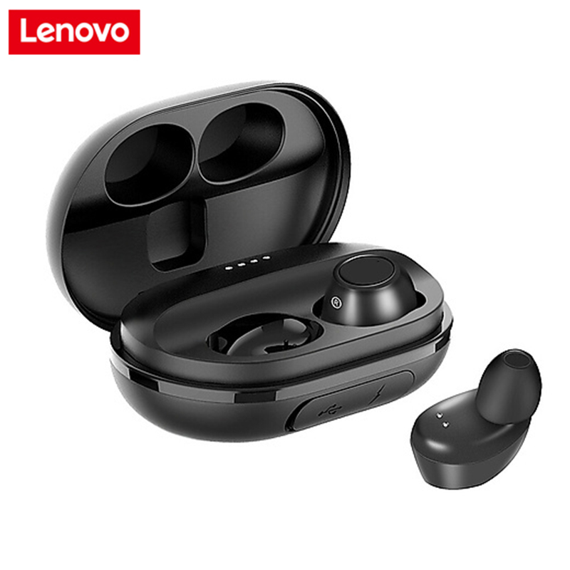 Lenovo Earphone Bluetooth-Headset Handfree Tws Wireless Charging-Box Sport with for Android