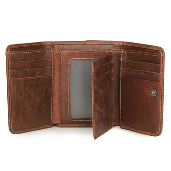 цена на RFID ID Identity Credit Card Blocking J.M.D Genuine Leather Wallet Slim Blocking Security Bifold R-8106C