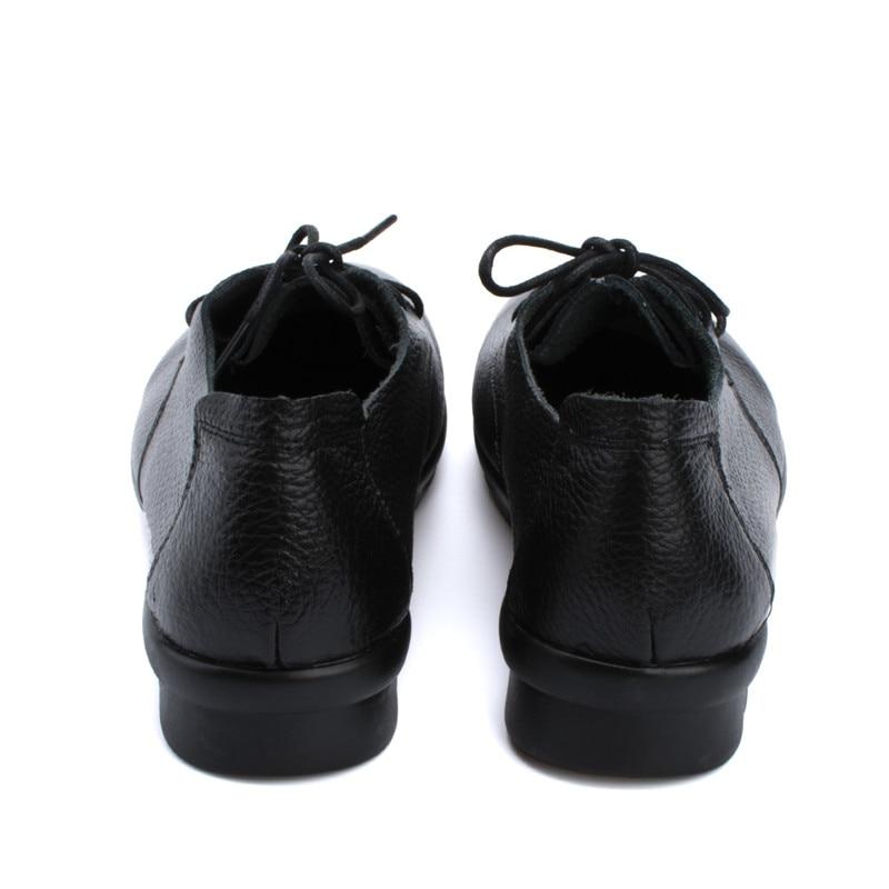 Noir Solide Beyarne Véritable Doux Noir Maman Enceinte Travail Non Bureau Brun Nouvelle marron En Cuir slip Automne Chaussures Femmes Plat Mode PS714P