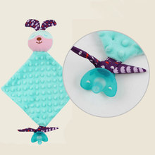 Kawaii Animal Appease Towel Toys Baby Reassure Blankie Soothe Towel Infant Educational Plush Kids Toys For Newborn(China)