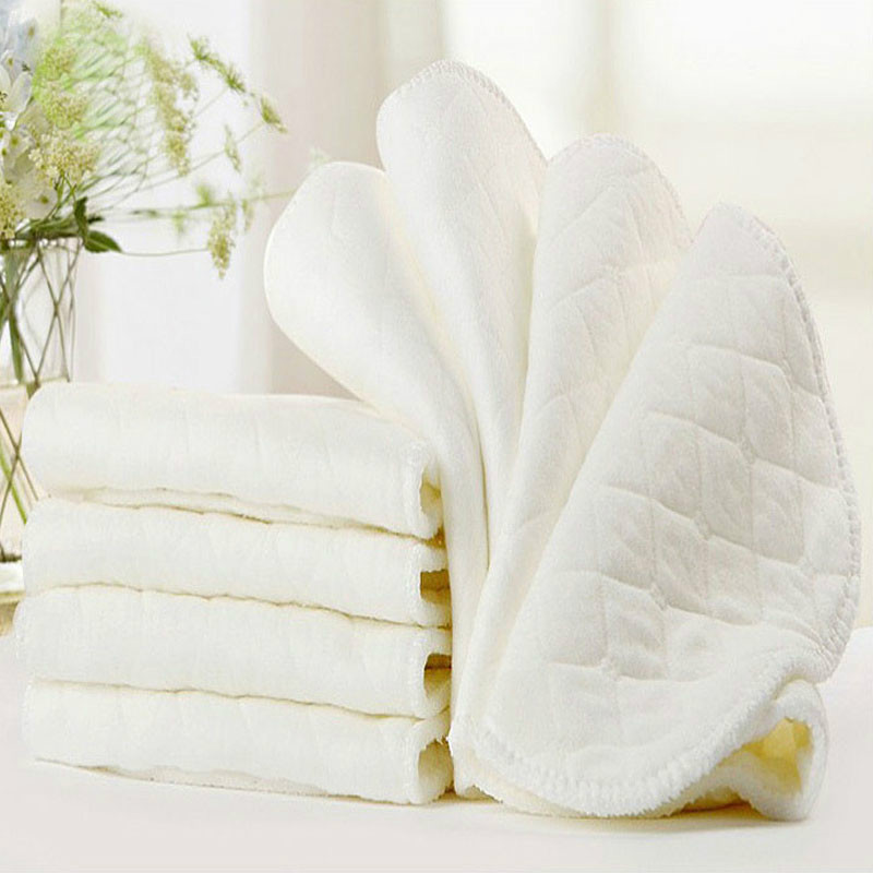 5PCS 3 Layers of Ecological Cotton Baby Diaper Paper Can Be Used Repeatedly Strong Water Absorption