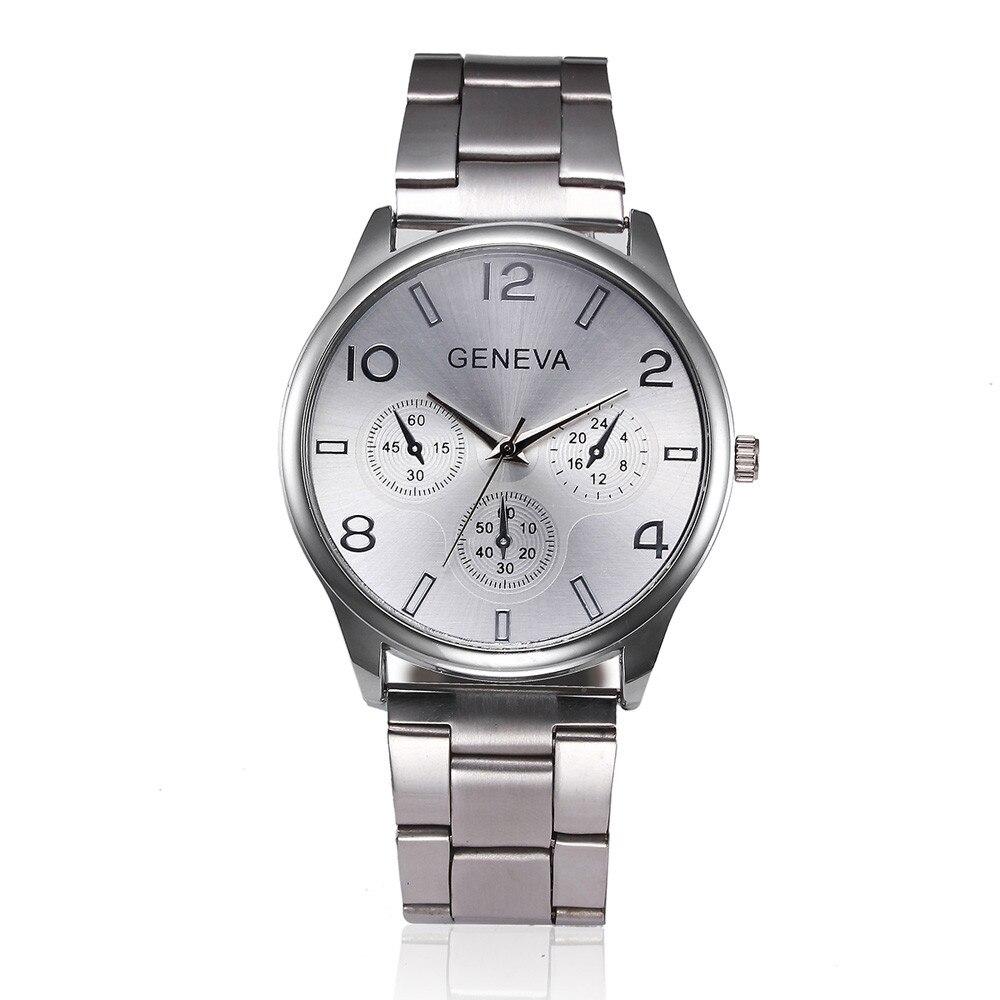 Fashion Man Women Crystal Stainless Steel Analog Quartz Wrist Watch Womens Wrist Watch Hodinky Relogio Feminino Clock Masculino