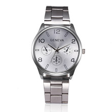 Fashion Man Women Crystal Stainless Steel Analog Quartz Wrist Watch