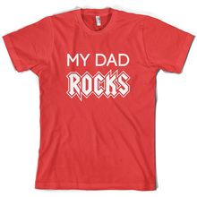 My Dad Rocks - Mens T-Shirt Father Daddy 10 Colours S-XXL Free UK P&P Print T Shirt Short Sleeve free shipping
