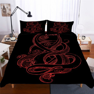 Image 1 - Zestaw pościeli 3D kołdra z nadrukiem pokrywa łóżko – zestaw ośmiornicy tekstylia domowe dla dorosłych realistyczne pościel z poszewka na poduszkę # ZY05