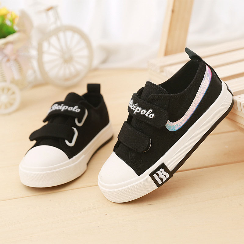High quality Canvas Cool sneakers kids solid color boy girls shoes hot sales breathable classic noble children casual shoes