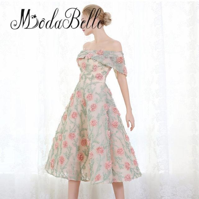 Online Shop modabelle Pink Floral Short Prom Dresses 2017 A Line 3D ...