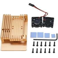 For Raspberry Pi 3 Model B+ Cooling Shell Metal Alloy Aluminum Case Radiator Fan