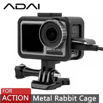 DJI OSMO działania metalowa klatka dla królika powłoka ochronna akcesoria do kamer sportowych tanie i dobre opinie ADAI OA-02 GoPro Przypadku Aluminium Aluminum alloy 50g 0 11bl 100g 0 22bl 7*7 2*3cm 12*8 5*4 8cm