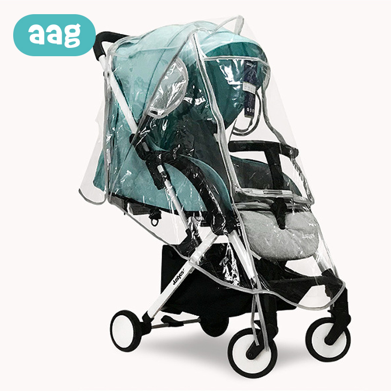 AAG Baby Stroller Raincover Accessories EVA Transparent Dust Wind Waterproof Child Pram Rain Cover Canopy Baby Cart Raincoat