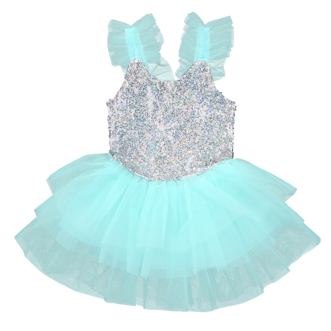 Cute Sequins Infant Baby Kids Girls mesh Fancy Party Princess Tutu Tulle Summer ball gown Dress light green baon весна лето 2017 vogue