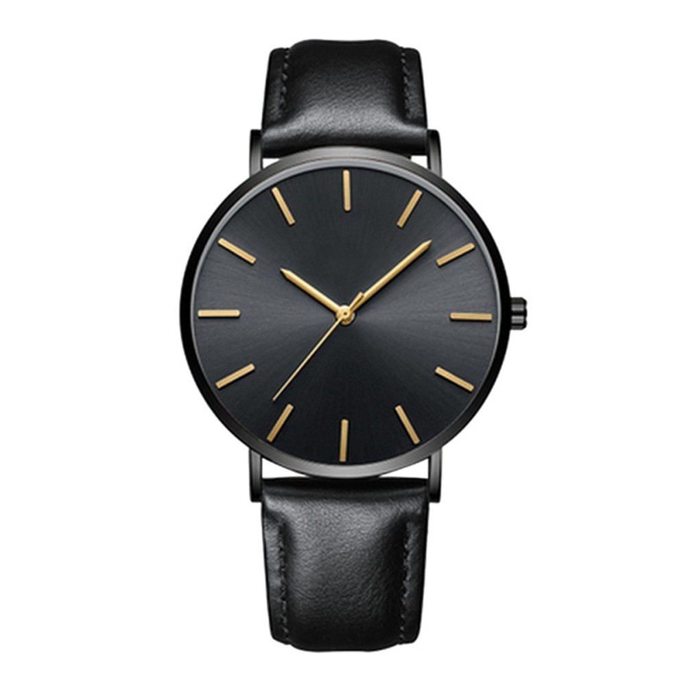 Quartz Watches Fashion Men Date Alloy Case Synthetic Leather Analog Quartz Sport Watch Mens Watches Top Brand Luxury Masculino Reloj #35 Watches