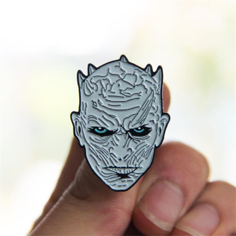 Movie Game Of Thrones Night's King Brooch Badge Cosplay Accessories Cartoon Cute Fashion Fans Funny Fancy Gift
