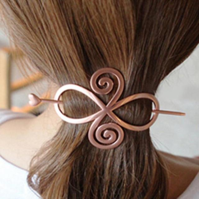 2017 Retro Women Heart Star Geometry Hair Stick Chopsticks Hairpin Pin